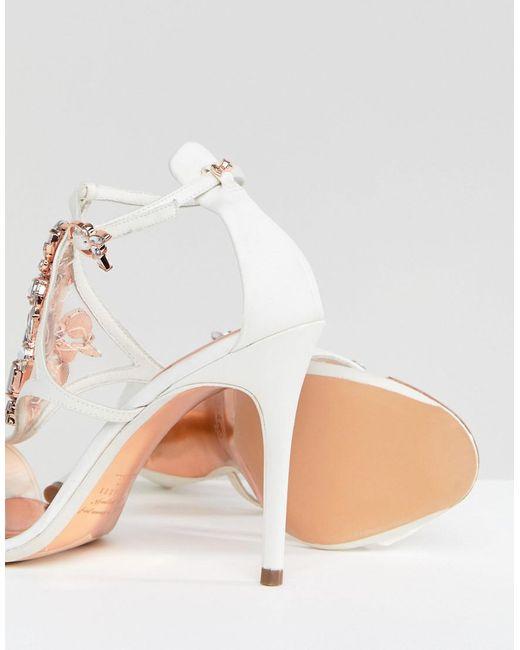 Ted Baker Liosa Embellished T-Bar Heeled Sandals it6bRK