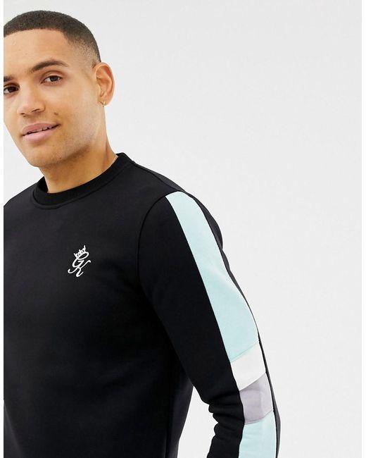 Mens Gym King Designer Fleece Crew Neck Full Tracksuit Set Joggers Sweatshirt