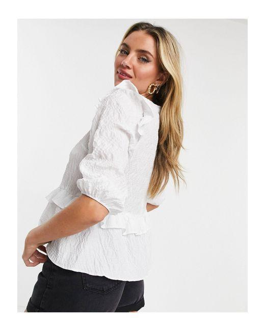 Белая Блузка С Баской -белый New Look, цвет: White