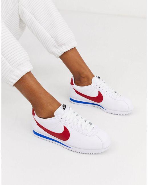 Кожаные Кроссовки В Стиле Ретро Classic Cortez-белый Nike, цвет: White