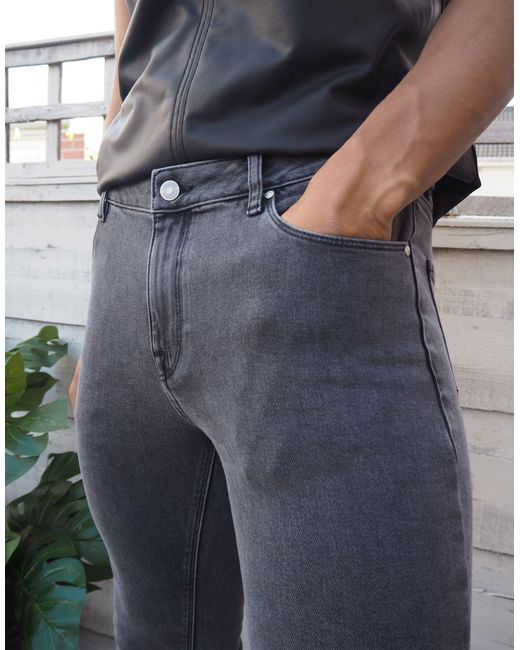 Черные Джинсы Скинни Из Денима Плотностью 12,5 Унц ASOS для него, цвет: Black