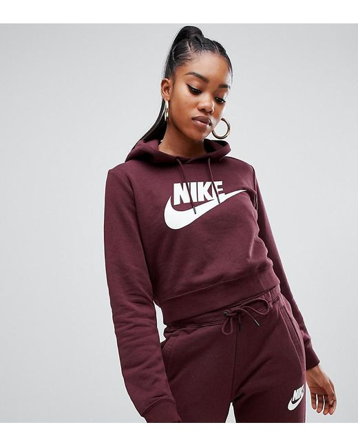 best choice large discount nice shoes Rally Burgundy Cropped Logo Hoodie