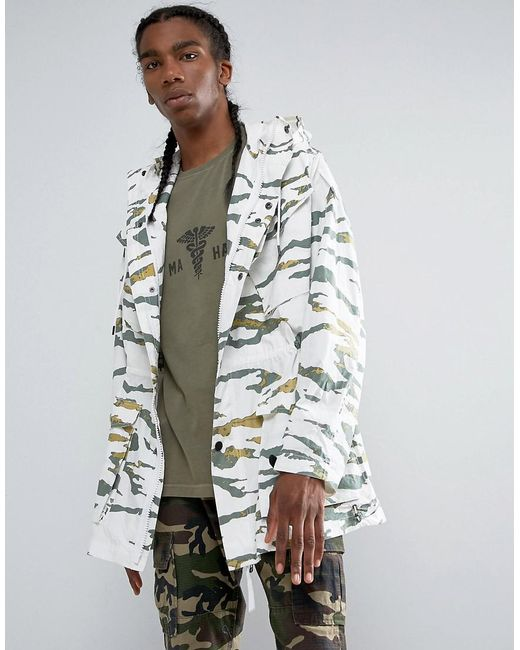 ae2e088766f4 Lyst - Maharishi Cargo Camo Long Line Jacket in Green for Men - Save 54%