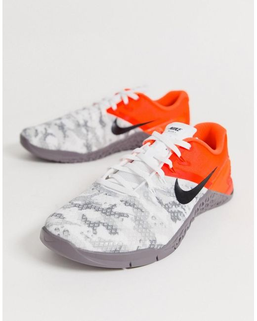 bd7a90b8f99f9 Nike Metcon 4 Sneakers In White Camo in White for Men - Lyst