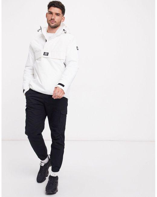 Pull&Bear White Overhead Padded Jacket for men