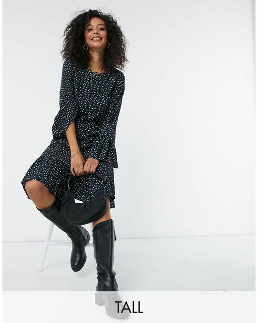 Y.A.S Multicolor Y.a.s. Tall Jamila Fluted Sleeve Midi Dress