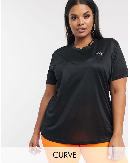Футболка Curve-черный Цвет ASOS 4505, цвет: Black