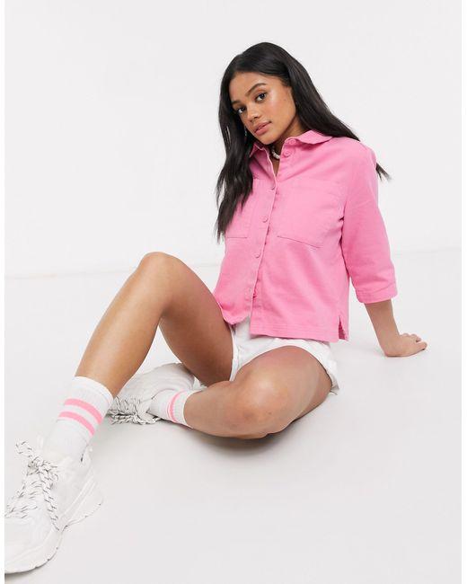 Farren - Blusa oversize rosa di Monki in Pink