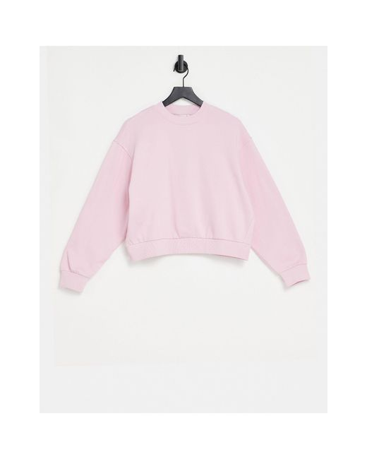 Weekday Pink Amaze Organic Cotton Sweatshirt
