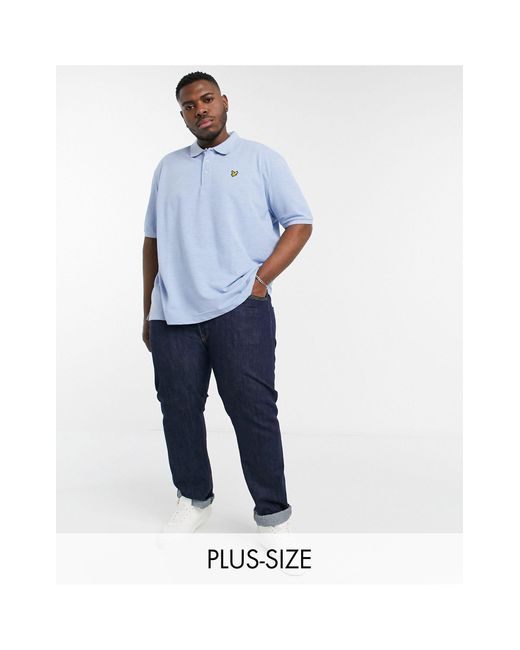 Lyle & Scott Blue Marl Polo Shirt for men