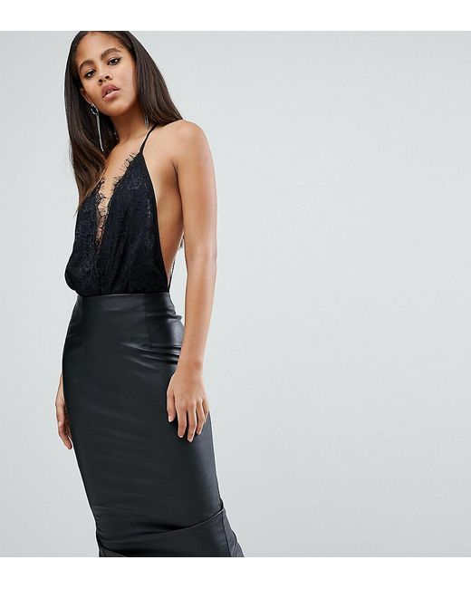 ASOS - Black Asos Design Tall Lace Top Body With Strappy Back Detail - Lyst