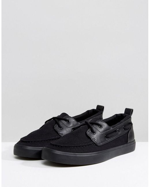ASOS Wide Fit Boat Shoes In Canvas 92zHxVV