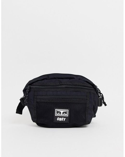 fcea60cdc5c Obey Conditions Waist Bag In Black in Black for Men - Lyst