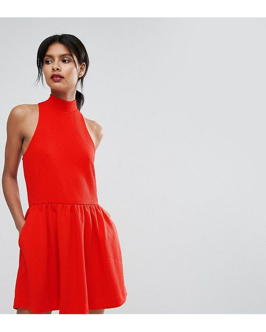 Lyst - Whistles High Neck Prom Dress in Red