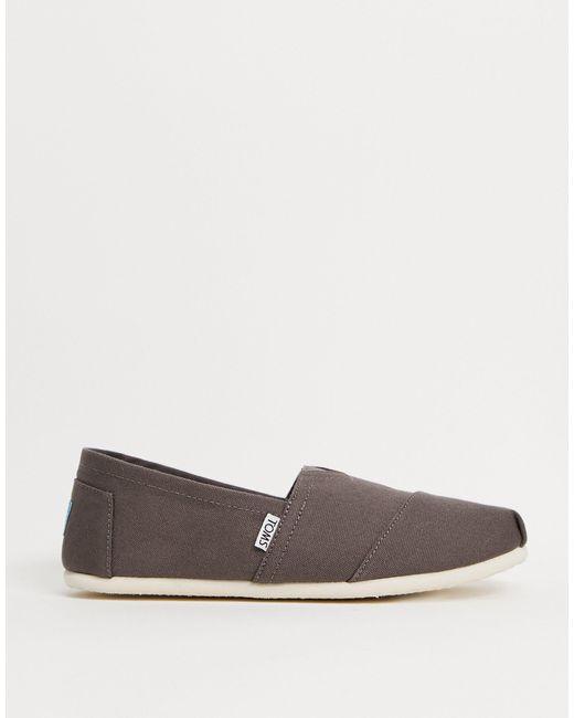Серые Эспадрильи -коричневый TOMS для него, цвет: Brown