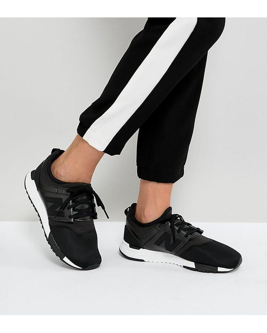 new balance 247 trainers black