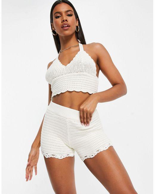 Shorts color crema ASOS de color Multicolor
