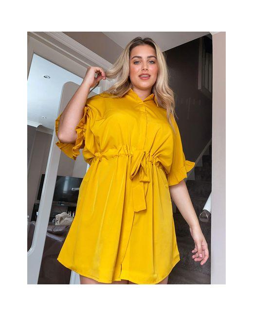 Желтое Платье-рубашка -желтый AX Paris, цвет: Yellow