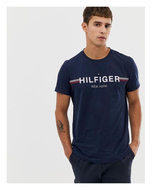 Темно-синяя Футболка С Логотипом -темно-синий Tommy Hilfiger для него, цвет: Blue