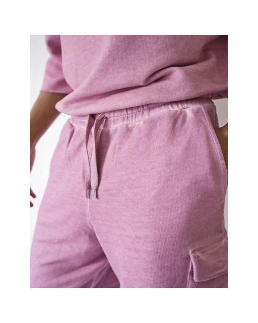 Пыльно-фиолетовые Шорты-карго В Стиле Oversized От Комплекта ASOS для него, цвет: Purple