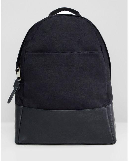 Большой Парусиновый Рюкзак ASOS, цвет: Black