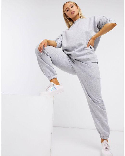 Серый Меланжевый Спортивный Костюм С Джоггерами И Свитшотом ASOS, цвет: Gray