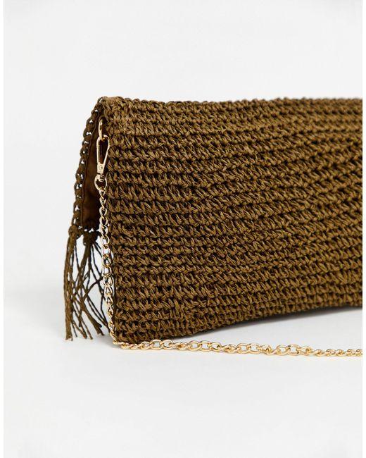 Соломенный Клатч -коричневый Oasis, цвет: Brown
