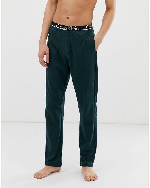 Штаны Для Дома -зеленый Calvin Klein для него, цвет: Multicolor