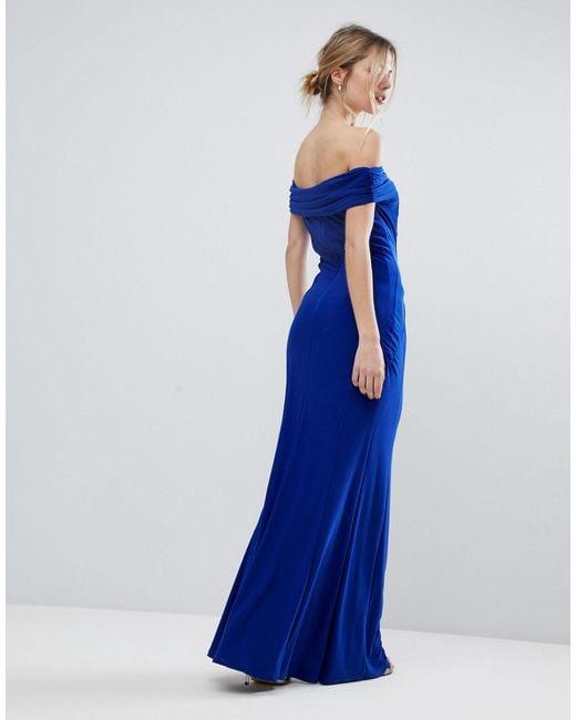 Coast Blue Shay Slinky Jersey Bardot Maxi Dress