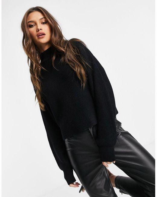 Черный Джемпер С Открытой Спиной NA-KD, цвет: Black