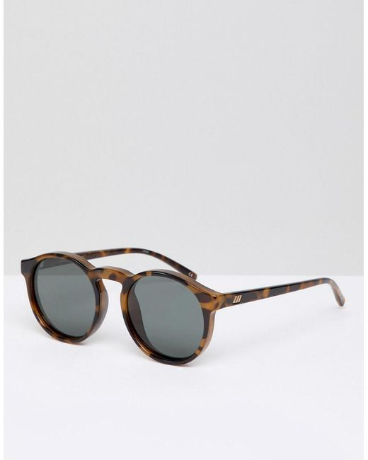 28a426549c Le Specs - Brown Round Polarized Sunglasses In Tort for Men - Lyst ...