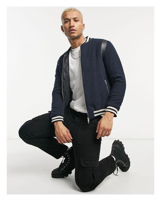 Куртка-бомбер Из Мягкой Ткани -темно-синий Bolongaro Trevor для него, цвет: Blue