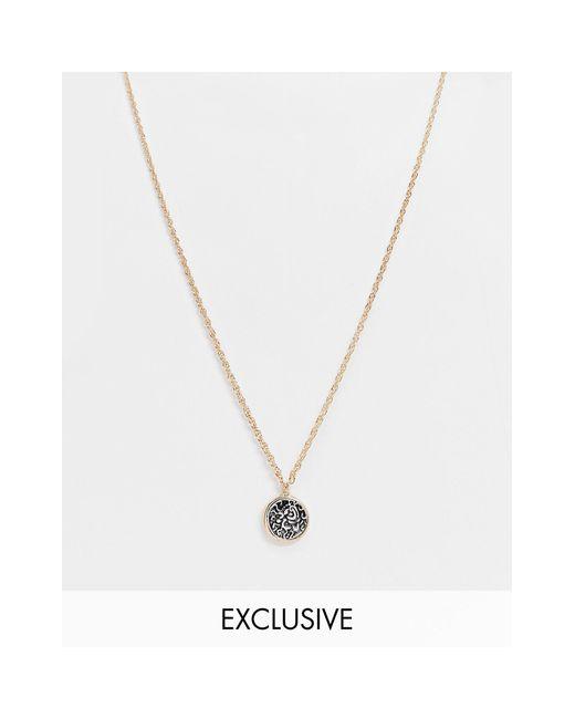 Двухцветное Ожерелье-цепочка Inspired-серебристый Reclaimed (vintage) для него, цвет: Metallic