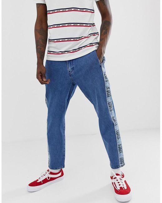 69eb2a9a4ae1 Levi's - Blue Side Stripe Logo Jeans for Men - Lyst ...