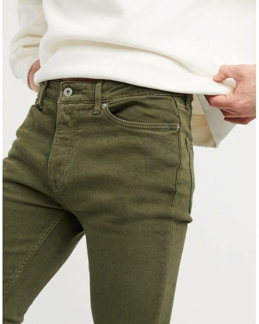 Джинсы Скинни Цвета Хаки -зеленый Topman для него, цвет: Green