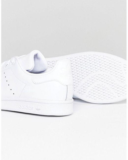 adidas originali stan smith formatori in bianco s75104 in bianco