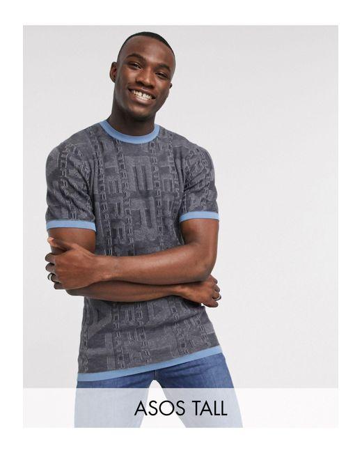 Tall - T-shirt di ASOS in Gray da Uomo