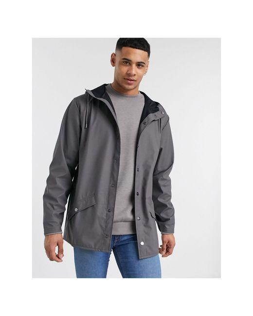 Темно-серая Легкая Куртка С Капюшоном -серый Rains для него, цвет: Gray