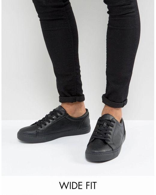 Черные Кроссовки Для Широкой Стопы ASOS для него, цвет: Black