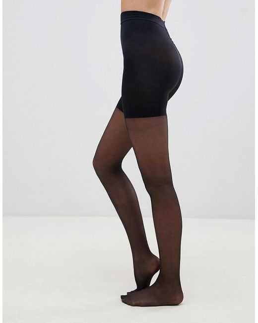 95ca4d000 ... Pretty Polly - In Shape Sheer Longline Shaper Tights In Black - Lyst