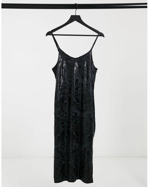 Vestido lencero con estampado negro Billie Bolongaro Trevor de color Black