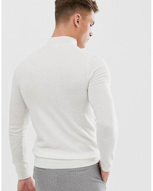ASOS Muscle-fit Coltrui Van Merinowol in het White voor heren