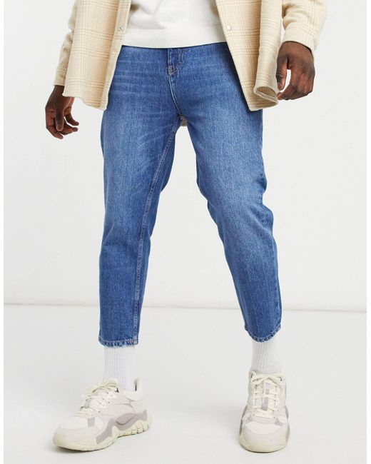 Pull&Bear Blue Relaxed Fit Jeans for men