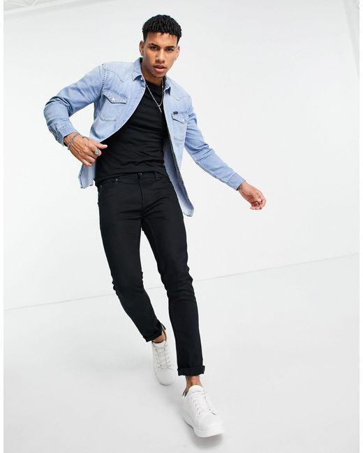 Lee Jeans Blue Denim Western Shirt for men