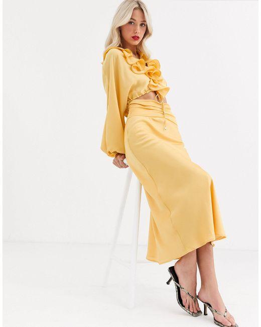 Комбинируемая Юбка Knowing Of This-желтый C/meo Collective, цвет: Yellow