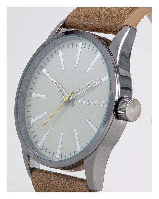 Часы С Коричневым Ремешком И Серым Циферблатом -черный Bellfield для него, цвет: Brown