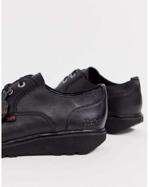 Мужские Кожаные Туфли-дерби Черного Цвета Kick C Lite-черный Kickers для него, цвет: Black