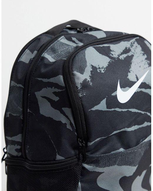 Черный Камуфляжный Рюкзак Nike для него, цвет: Black