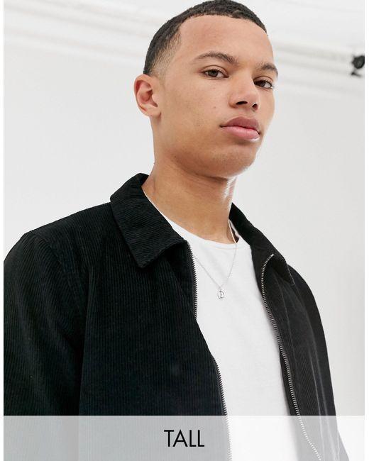 Вельветовая Куртка На Молнии Tall-черный Another Influence для него, цвет: Black