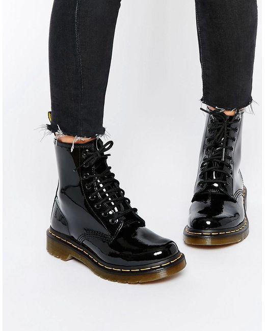 Лакированные Ботинки С 8 Парами Люверсов Modern Classics 1460 Dr. Martens, цвет: Black